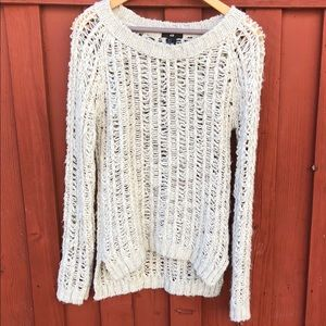 Boho Cream colored slouchy sweater small